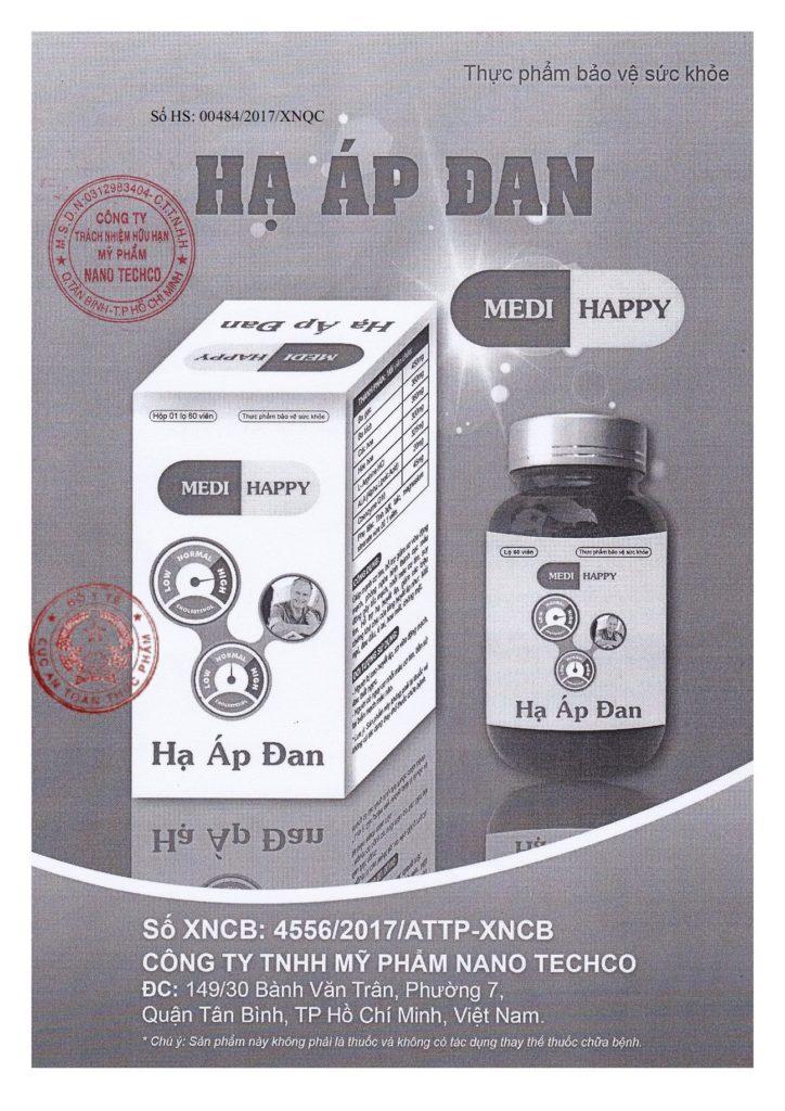Hạ áp đan Medi Happy