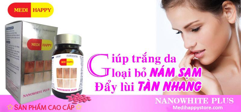 Nano White Plus Medi Happy viên uống trắng da trị nám