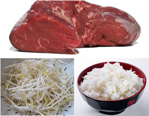 bò tái giá đỗ - những thực phẩm cho người bị yếu sinh lý nam