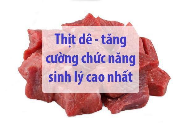 thịt dê - những thực phẩm cho người bị yếu sinh lý nam 2