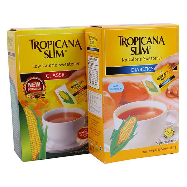 duong bap an kieng Sucralose Tropicana Slim la duong cho nguoi benh tieu duong