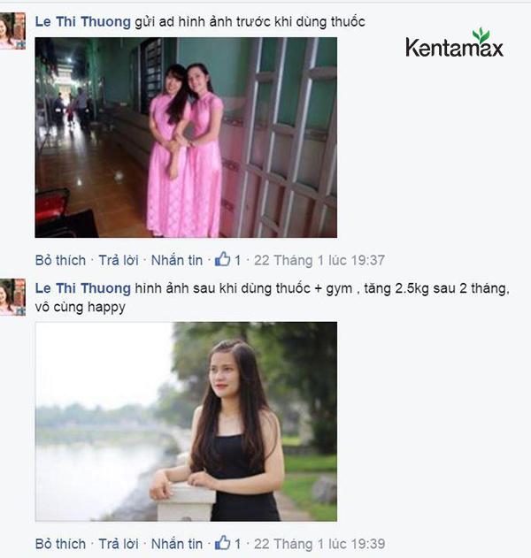 phản hồi khách hàng sử dụng kentamax