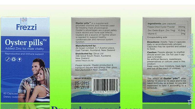 tăng cường sinh lý nam Frezzi Oyster Pills