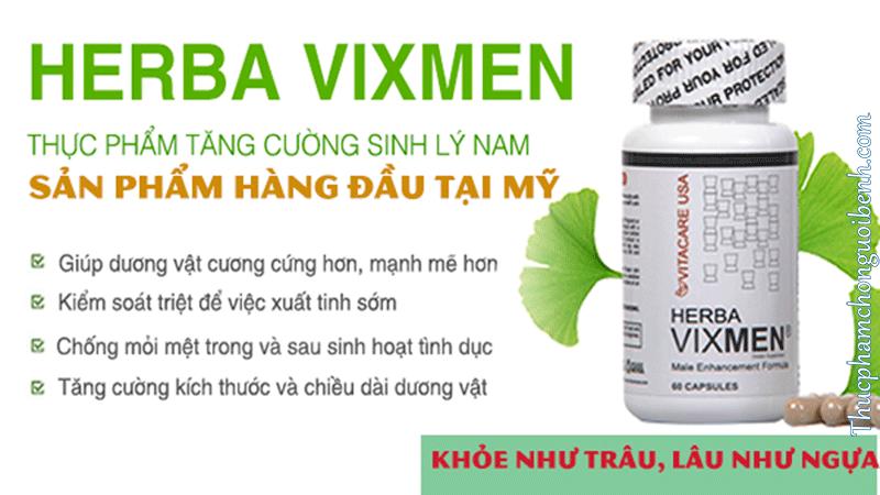 tăng cường sinh lý nam Vitacare USA Herba Vixmen