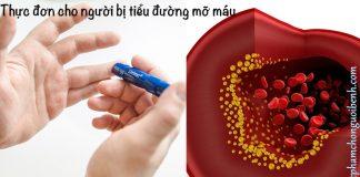 thực đơn cho người bệnh tiểu đường mỡ máu
