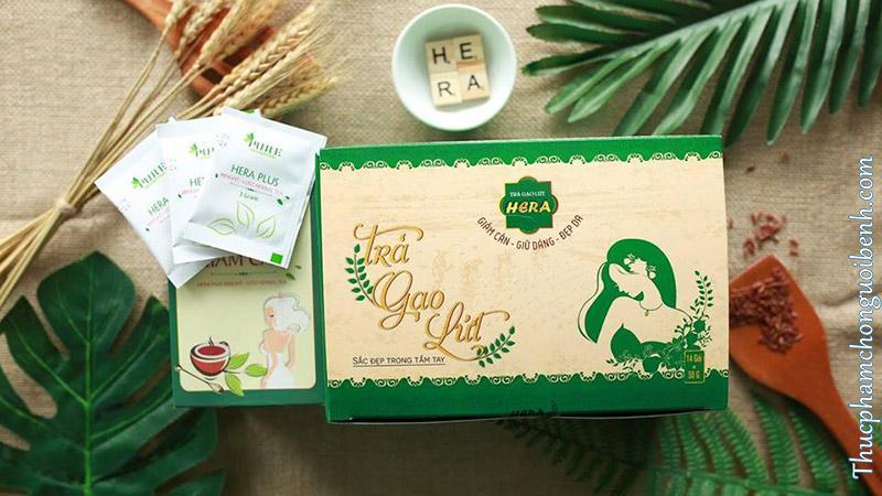 trà giảm cân gạo lức Hera