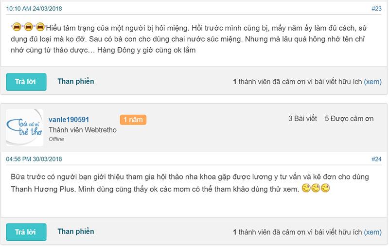 review thanh hương plus webtretho