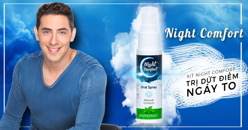 thuốc xịt chống ngáy night comfort