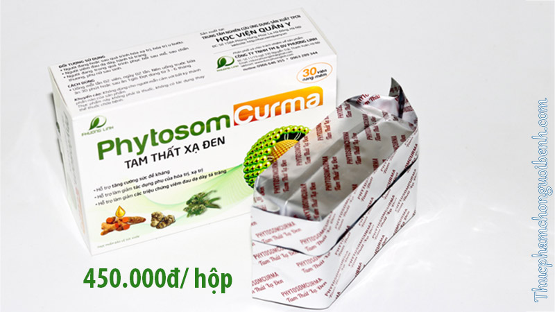 viên uống Phytosome Curma Tam Thất Xạ Đen giá bao nhiêu