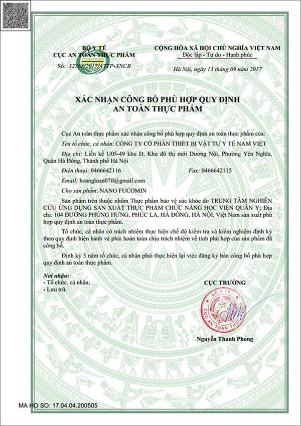 giấy chứng nhận