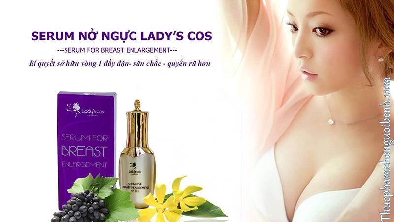 serum tinh dầu nở ngực lady's cos có tốt không