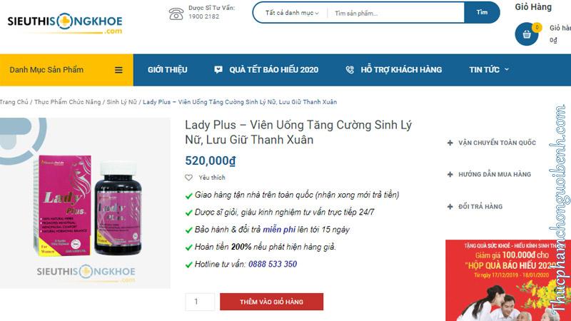 lady plus co tot khong
