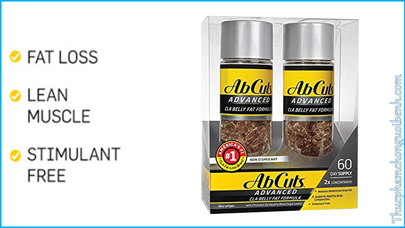 vien giam mo abcuts advanced belly fat formula co tot khong
