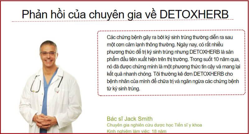 ý kiến chuyên gia detox herb