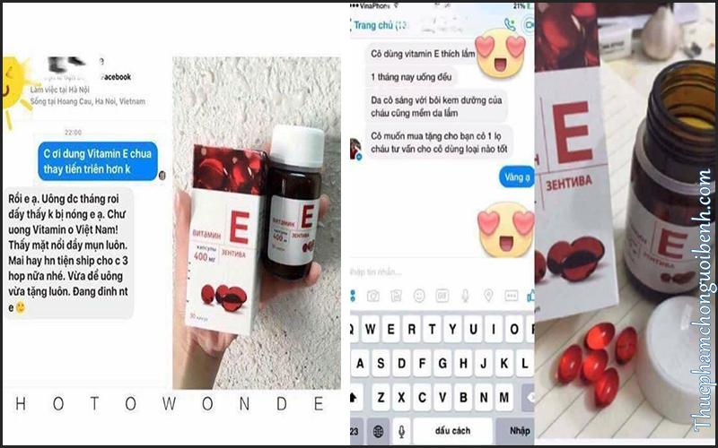 phản hồi khách hàng về vitamin e zentiva đỏ của nga
