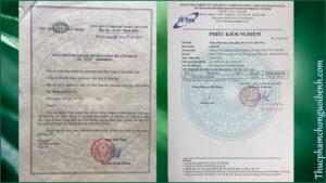 giấy chứng nhận viên giảm cân dugata