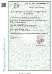 giấy chứng nhận đào ngọc nữ