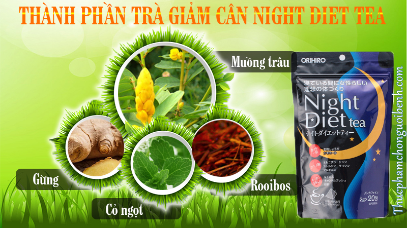 thanh phan tra giam can night diet tea