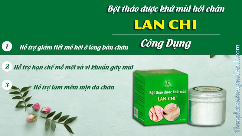 công dụng bột thảo dược khử mùi hôi chân lan chi