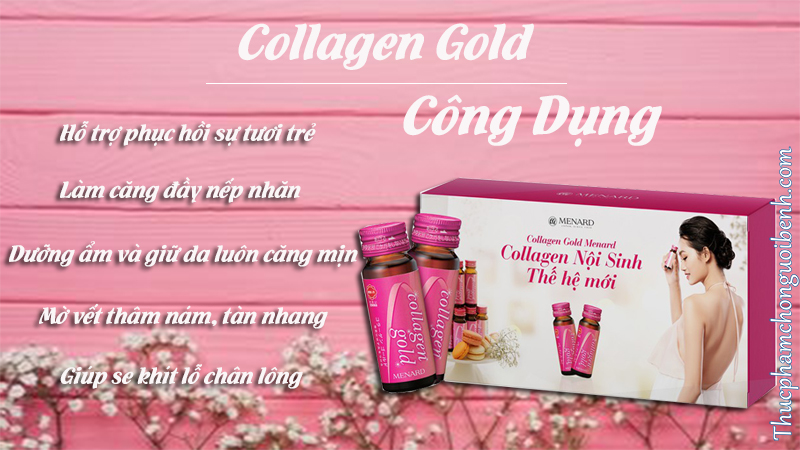 công dụng collagen gold