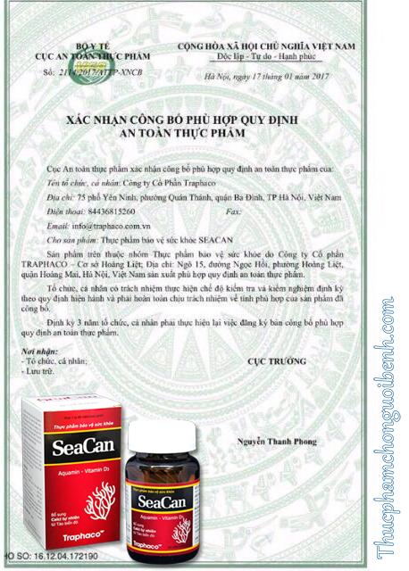 giấy chứng nhận seacan