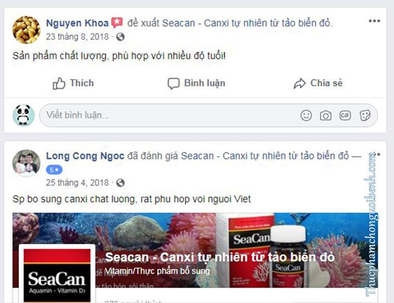 phản hồi viên bổ sung canxi seacan