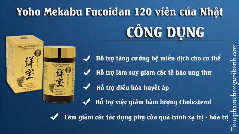 công dụng yoho mekabu fucoidan