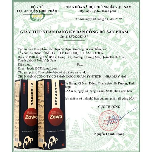 giấy chứng nhận zawa