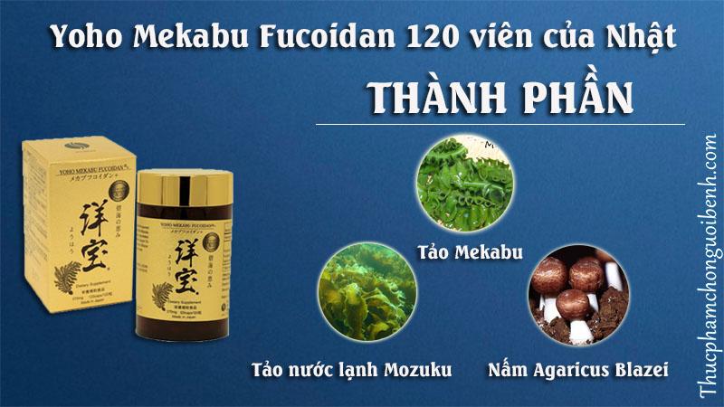 thành phần yoho mekabu fucoidan