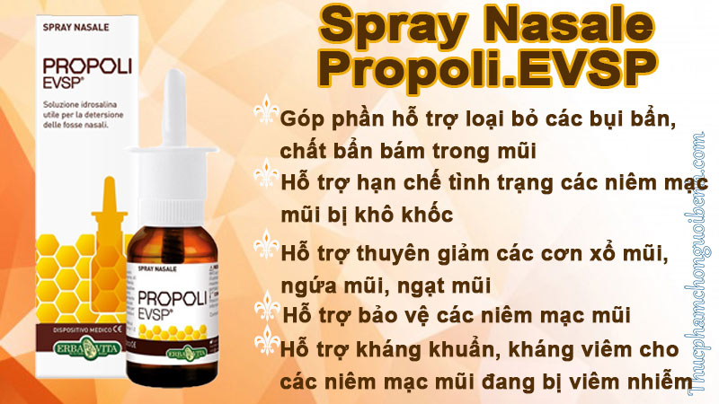 spray nasale propoli.evsp có tốt không