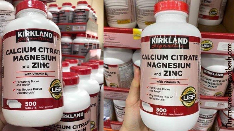 vien uong xuong khop Kirkland Calcium Citrate Magnesium And Zinc 2