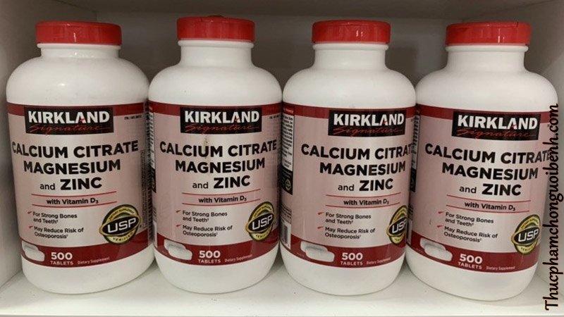 vien uong xuong khop Kirkland Calcium Citrate Magnesium And Zinc 7